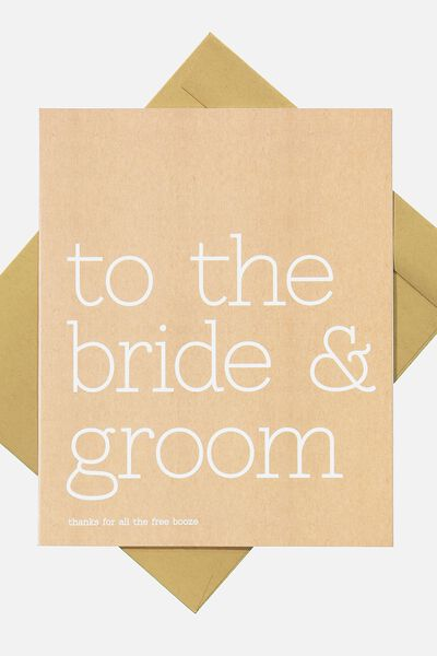 Wedding Card, WE-FREE BOOZE