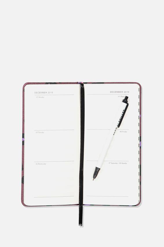 2019 20 Pocket Planner, PURPLE LEOPARD