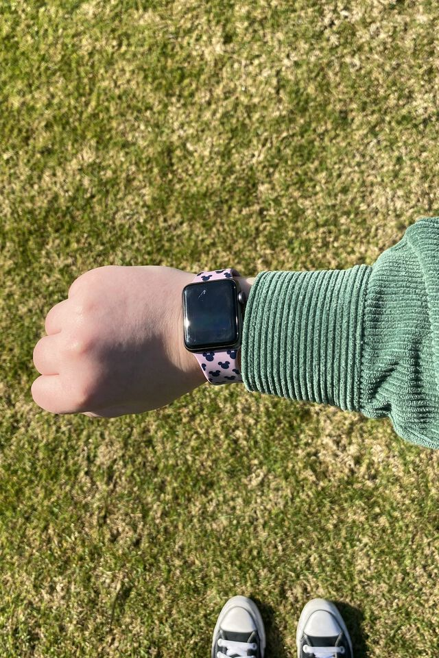 Disney Strapped Watch Strap, LCN DIS MICKEY HEAD YDG LILAC
