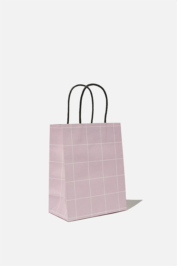 Get Stuffed Gift Bag - Small, HEATHER GRID