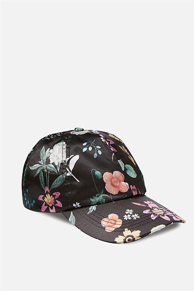 Novelty Caps, BLACK FLORAL