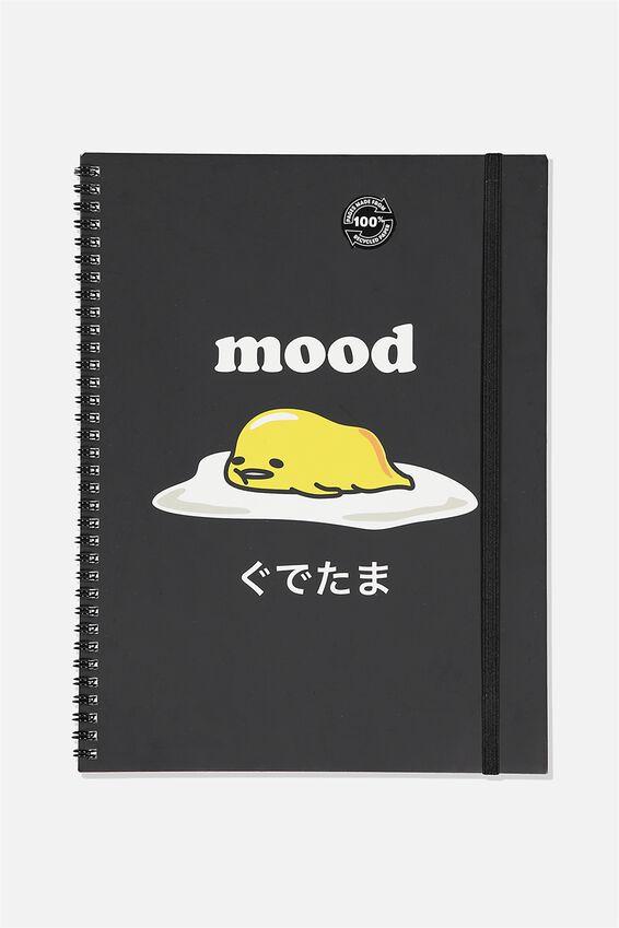 A4 Gudetama Spinout Notebook Recycled, LCN SAN GU MOOD