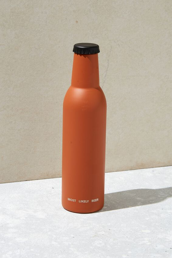 Bottle Top Metal Drink Bottle, RUSSET