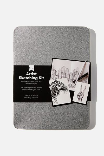 Sketch It Tin, GREY BLACK