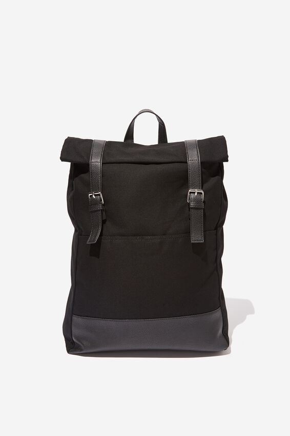 Roll Top Backpack, BLACK MULTI