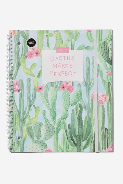 College Ruled Spinout Notebook V, CACTUS MAKES PERFECT