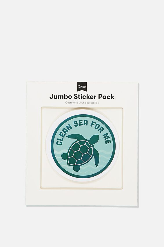 Jumbo Sticker, CLEAN SEA FOR ME