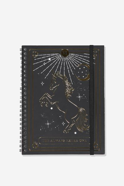 A5 Spinout Notebook - 120 Pages, UNICORN EXTRA