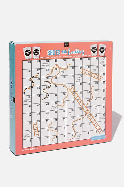 Shots And Ladders Board Game, ASSORTED