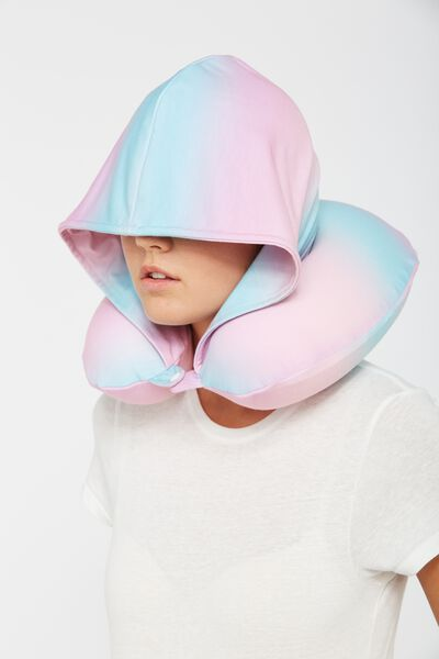 Hooded Neck Pillow, PINK OMBRE