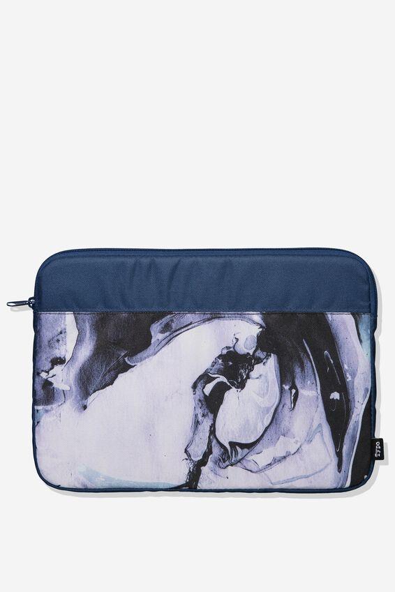 Freshman Laptop Case 13, DARK BLUE MARBLE