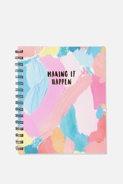 Medium Campus Notebook - 240 Pages, MAKING IT HAPPEN