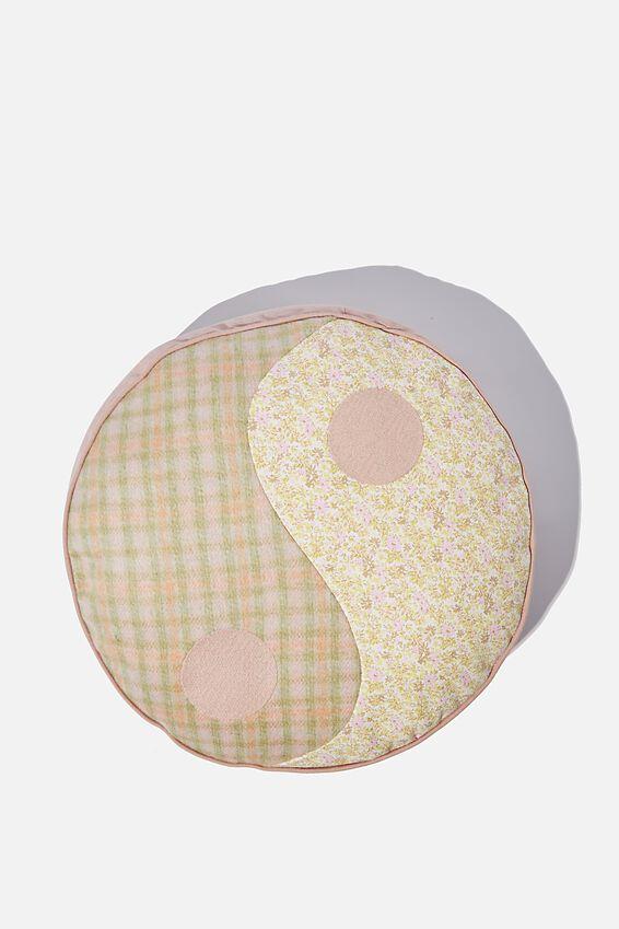 Canvas Cushy Cushion, TARTAN SPLICE YIN YANG