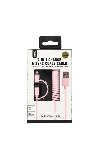 Curly Cable, PINK