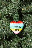 Resin Christmas Ornament, RAINBOW HEART