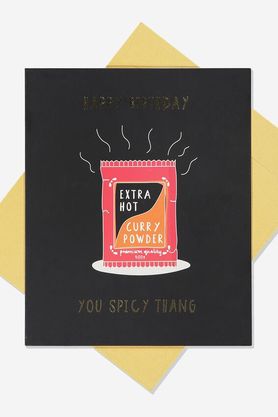 Funny Birthday Card, SPICY THANG