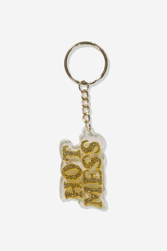 Enamel Keyring, HOT MESS