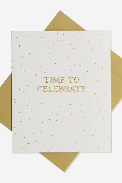 Nice Birthday Card TIME TO CELEBRATE
