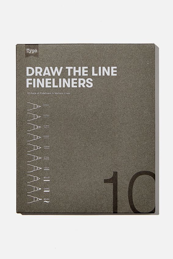 Draw The Line Fineliner 10Pk, MULTI