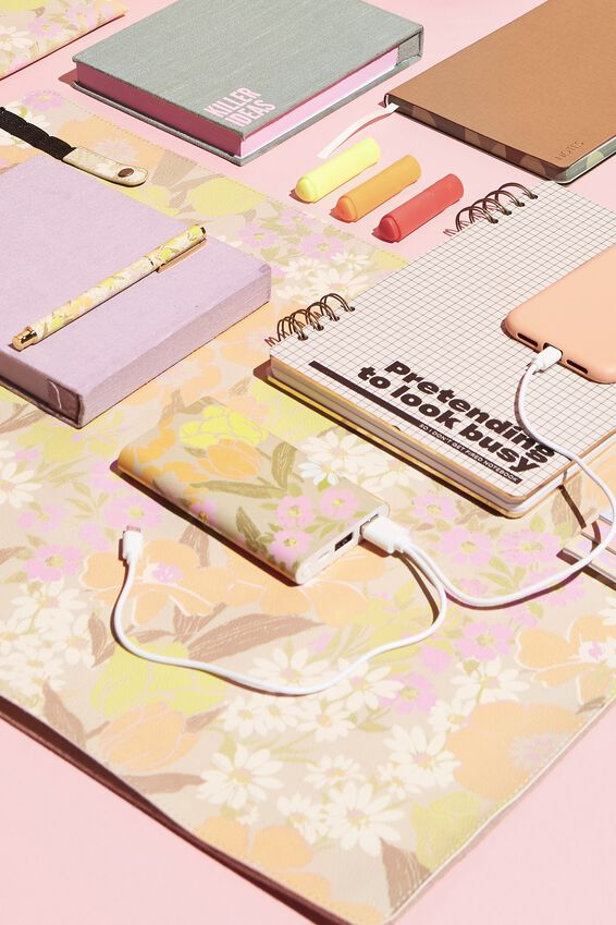 Printed Charge It Charger, SAND GOLDIE FLORAL