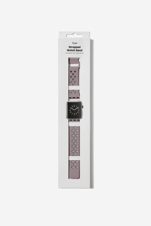 Strapped Watch Strap, DUSTY LILAC & LAVENDER