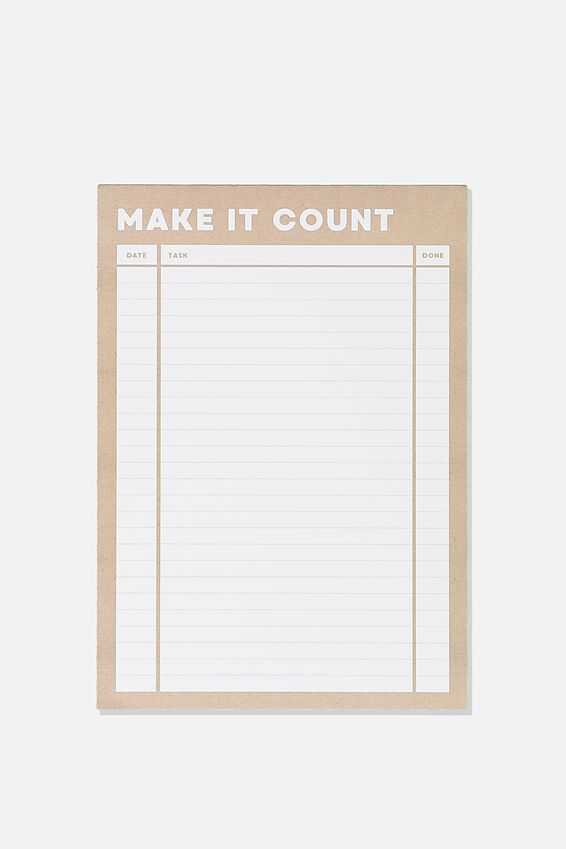 A5 Plan Ahead Planner, KRAFT MAKE  IT COUNT