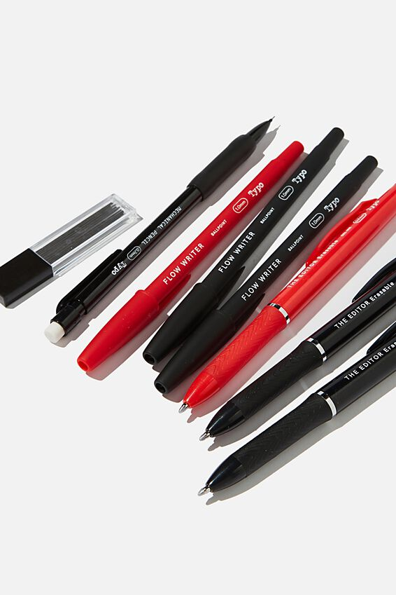Essential Pen Pack, BLACK AND RED