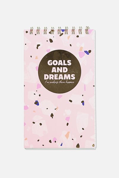 Flipout Notepad Recycled, GOALS & DREAMS