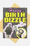Funny Birthday Card, LCN MT SNO BIRTHDIZZLE