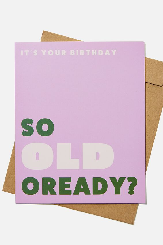 Funny Birthday Card, RG ASIA OLD OREADY