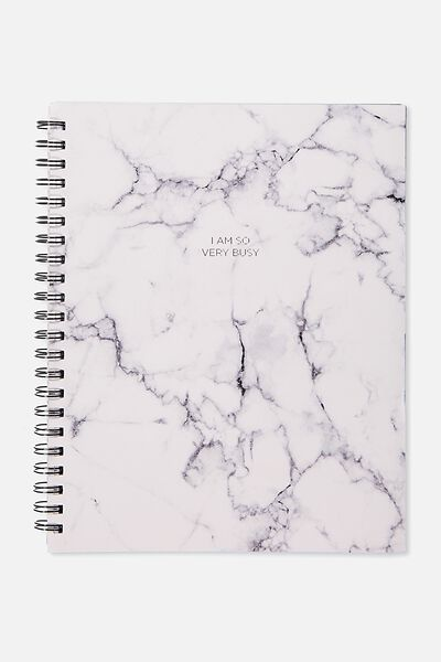 Large Campus Notebook - 240 Pages, WHITE MARBLE