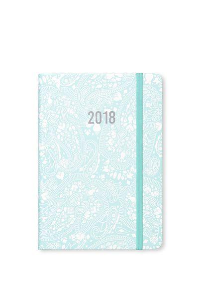 2018 A5 Daily Buffalo Diary, BLUE LACE