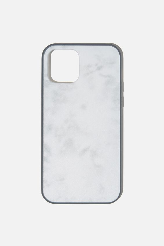 Protective Phone Case Iphone 12, 12 Pro, SPACEY TIE DYE COOL GREY