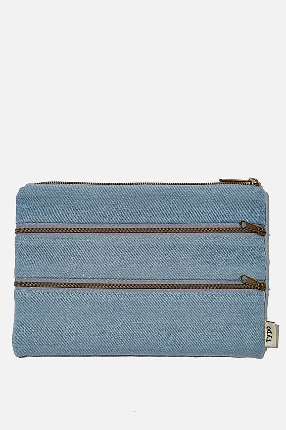 Double Archer Pencil Case, DENIM