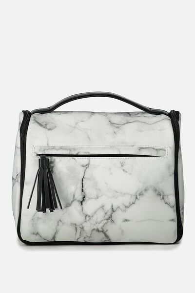 Hanging Toiletry Bag, MARBLE