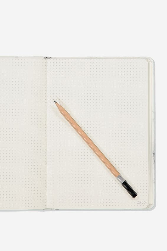 A5 Dot Buffalo Journal, WHITE MARBLE
