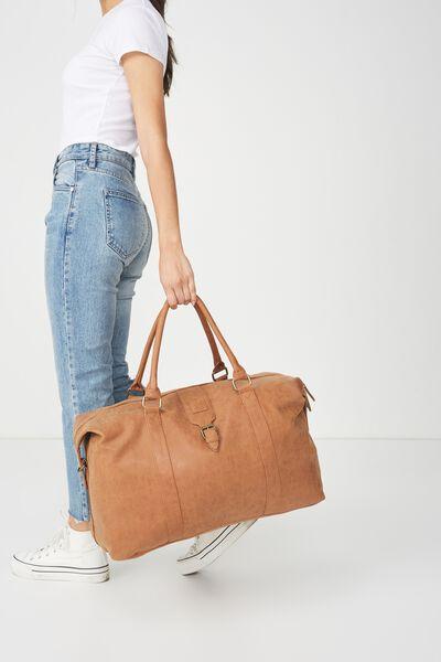 Buffalo Overnighter Bag, MID TAN