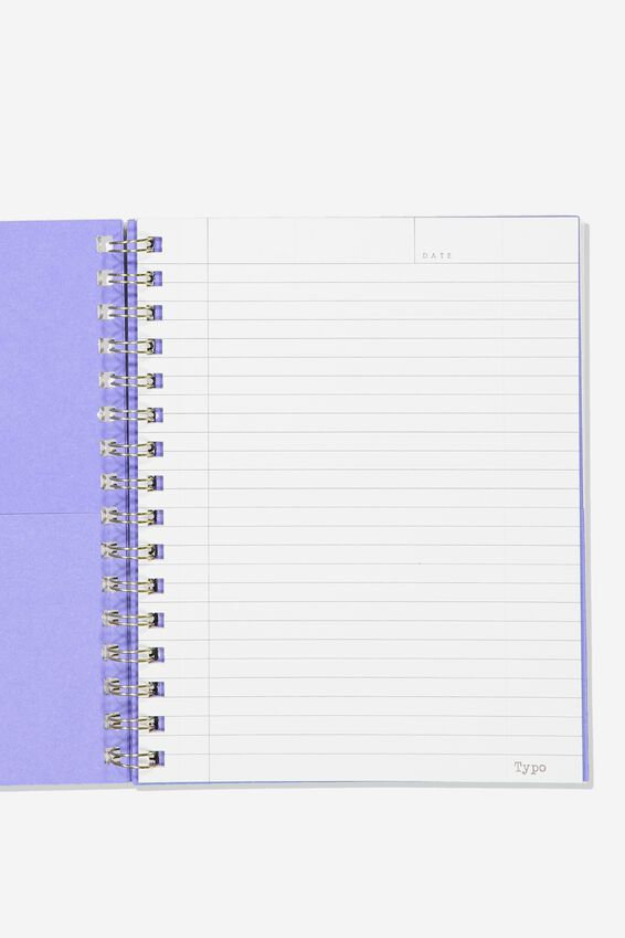 A5 Campus Notebook Recycled, PURPLE LACE