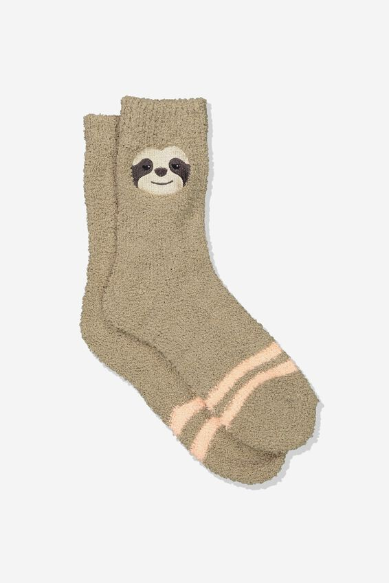 Long Slipper Socks, SLOTH