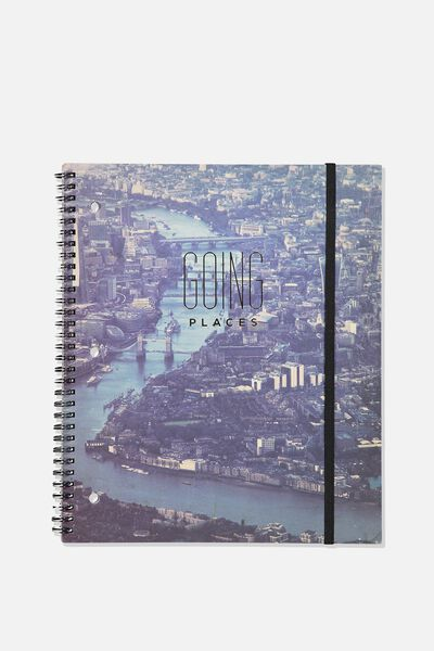 College Ruled Spinout Notebook V, GOING PLACES USA