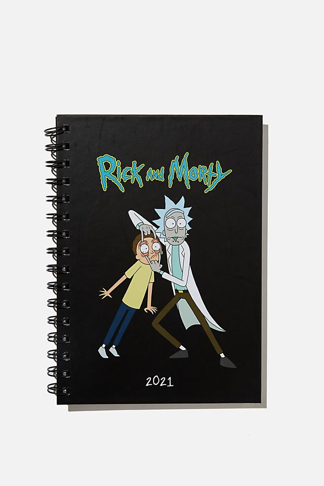 2021 A5 Spiral Diary, LCN RICK & MORTY CNW RM