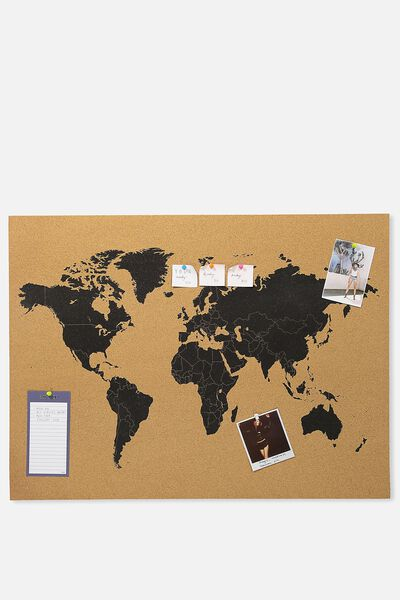 A1 What A Corker Cork Board, BLACK MAP