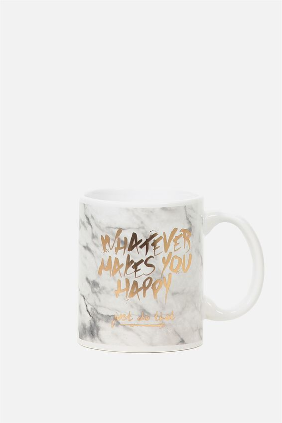 Anytime Mug, MARBLE HAPPY