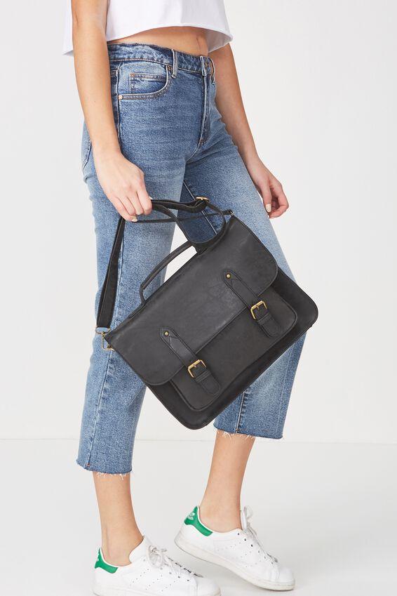 Satchel Bag, BLACK