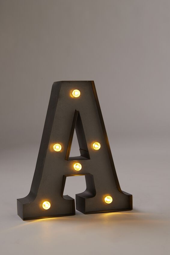 Midi Marquee Letter Lights 16cm, SILVER A