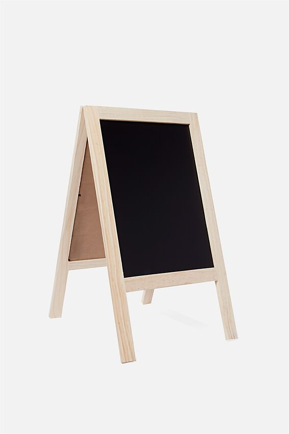 A3 Easel Chalkboard, NATURAL
