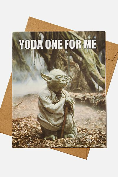 Love Card, LCN LU YODA ONE FOR ME MEME