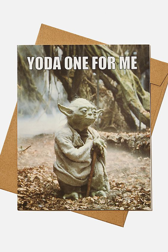 Star Wars Love Card, LCN LU YODA ONE FOR ME MEME