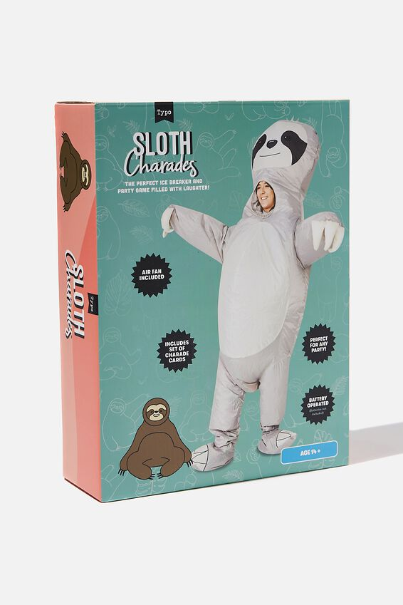 Inflatable Charades Game, SLOTH CHARADES