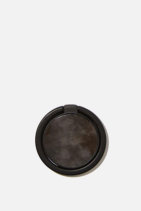 Metal Phone Ring, BLACK & WHITE TIE DYE
